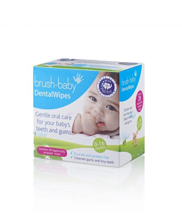 BRUSH BABY DENTAL WIPES FINGER