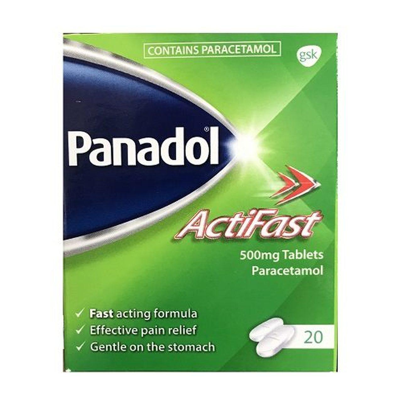 PANADOL ACTIFAST 500MG TABS