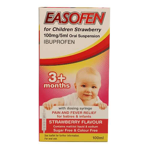 EASOFEN FOR CHILDREN STRW 100MG/5ML SUSP